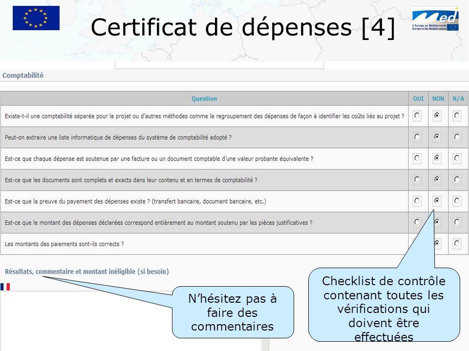 Certificat de dépenses [4]